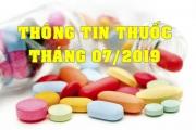 THÔNG TIN THUỐC THÁNG 07/2019