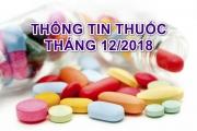 THÔNG TIN THUỐC THÁNG 12 NĂM 2018