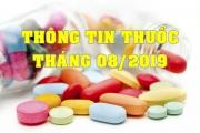 THÔNG TIN THUỐC THÁNG 08/2019